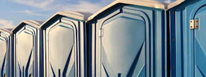 Blue Porta Potty